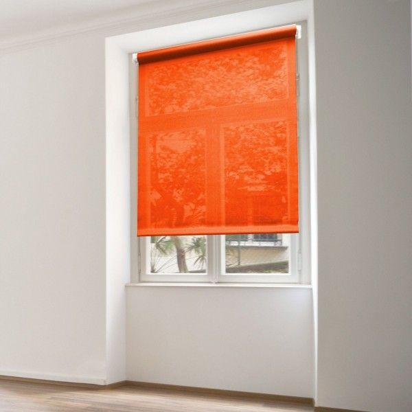 store enrouleur tamisant 60 x 180 cm uni orange store enrouleur eminza. Black Bedroom Furniture Sets. Home Design Ideas