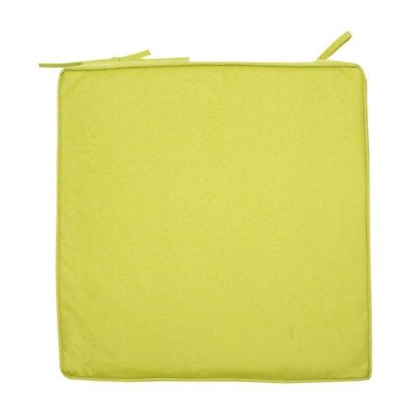 galette de chaise imperm able bali vert textile d 39 ext rieur eminza. Black Bedroom Furniture Sets. Home Design Ideas