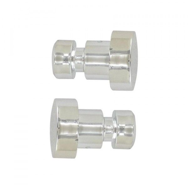 Lot de 2 embouts Bouchon Chrome