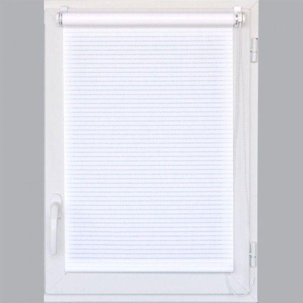 Store enrouleur tamisant (60 x H180 cm) Rayé Blanc - Rideau ...