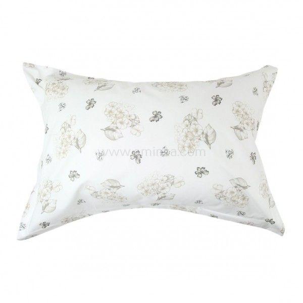 taie d 39 oreiller rectangulaire percale de coton absolu blanc taie d 39 oreiller traversin eminza. Black Bedroom Furniture Sets. Home Design Ideas
