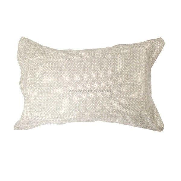 taie d 39 oreiller traversin ecru linge de lit eminza. Black Bedroom Furniture Sets. Home Design Ideas