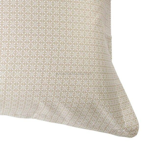 taie d 39 oreiller rectangulaire satin de coton wesley ecru linge de lit eminza. Black Bedroom Furniture Sets. Home Design Ideas
