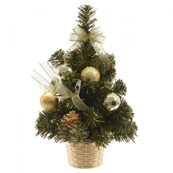 Sapin artificiel de table d cor d cor h20 cm or sapin de table eminza - Branche de sapin artificiel ...