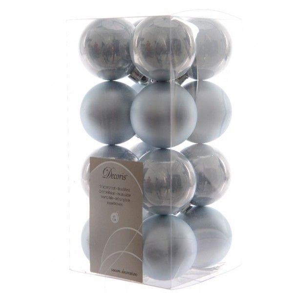 lot de 16 boules de no l d40 mm alpine bleu ciel boule de no l eminza. Black Bedroom Furniture Sets. Home Design Ideas