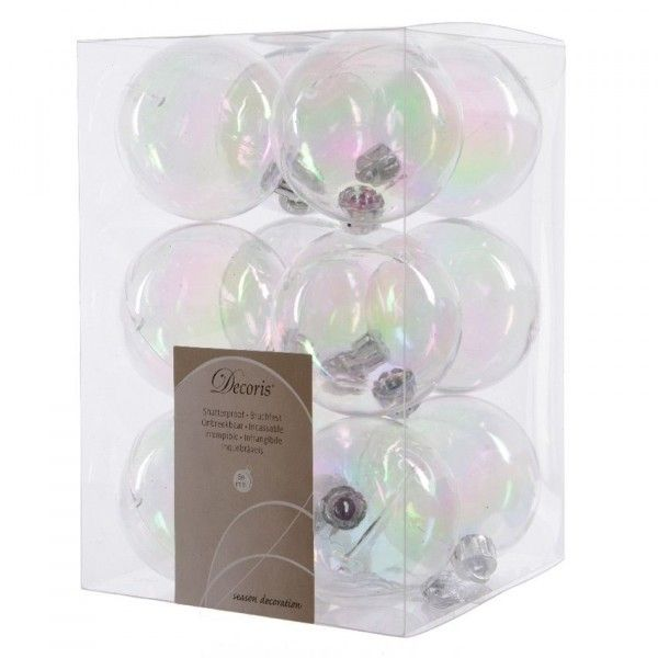 Lot de 12 boules de Noël (D60 mm) Vega Transparent