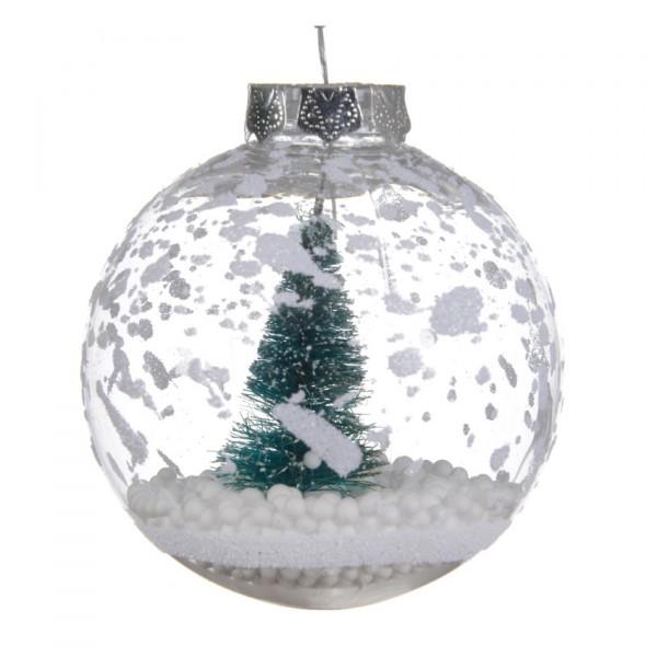 Lote De 3 Bolas De Navidad D80 Mm Arbol Transparente Bola Y - Bolas-de-navidad-transparentes