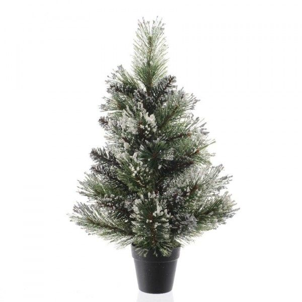 Sapin artificiel de table Finley H45 cm Vert enneigé