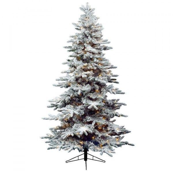 Künstlicher Weihnachtsbaum Mit Beleuchtung.Künstlicher Weihnachtsbaum Mit Beleuchtung Alaskan H150 Cm Grün Verschneit