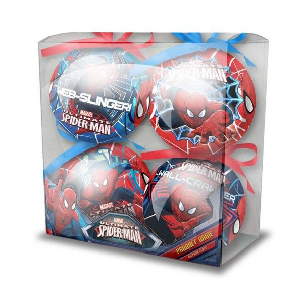 lot de 4 boules de no l disney spider man boule de no l eminza. Black Bedroom Furniture Sets. Home Design Ideas