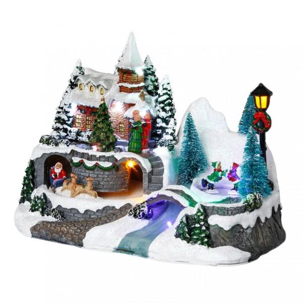 Beleuchtetes Weihnachtsdorf Santa Louisa - Weihnachtsdörfer - Eminza