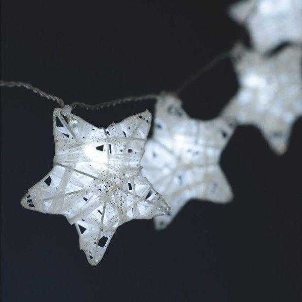 Guirlande Lumineuse Etoile Filante Blanc Froid 10 Led Luminaire