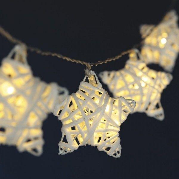 Guirlande Lumineuse Etoile Filante Blanc Chaud 10 Led Luminaire