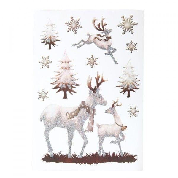 Vitrostatique et sticker decoration de fenetre eminza for Decoration fenetre renne