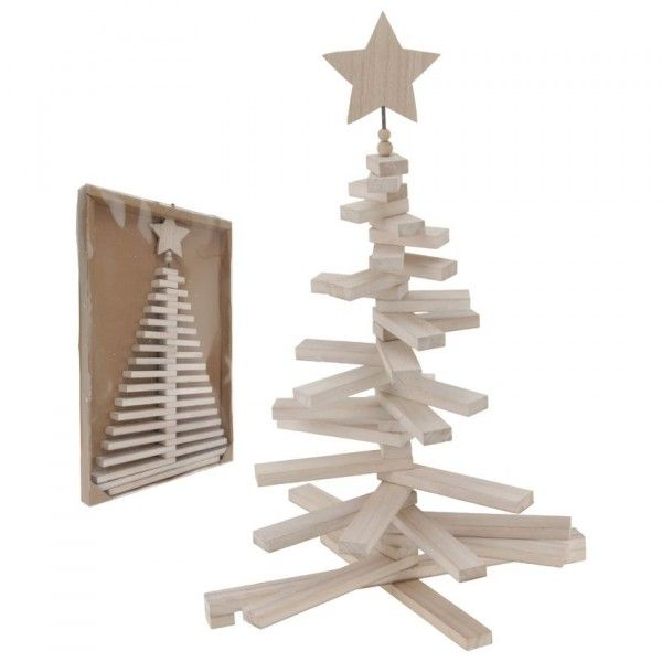 Sapin de table décoratif Flexible H70 cm Naturel