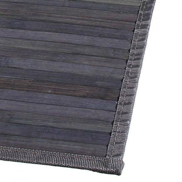 tapis lattes 80 cm bambou anthracite tapis eminza. Black Bedroom Furniture Sets. Home Design Ideas