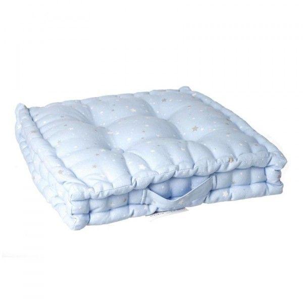 coussin de sol nuit d 39 toiles bleu d co textile eminza. Black Bedroom Furniture Sets. Home Design Ideas