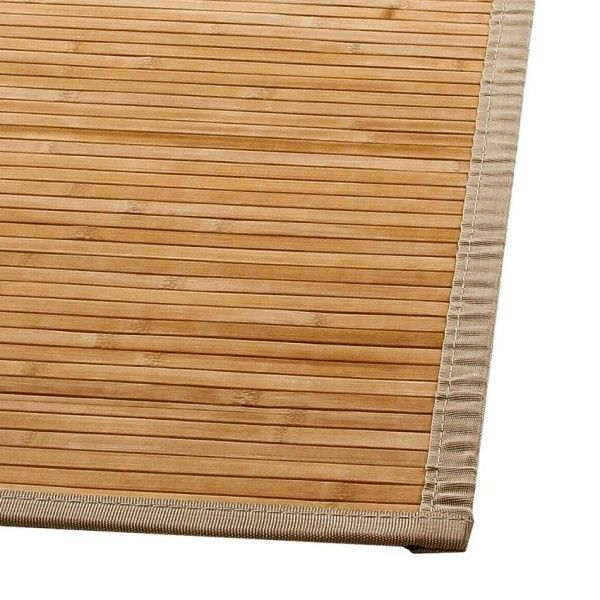 tapis lattes 170 cm bambou naturel tapis de chambre salon eminza. Black Bedroom Furniture Sets. Home Design Ideas