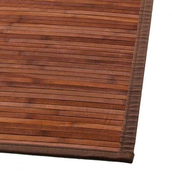 Tapis lattes (170 cm) Bambou Chocolat - Tapis de chambre/salon - Eminza