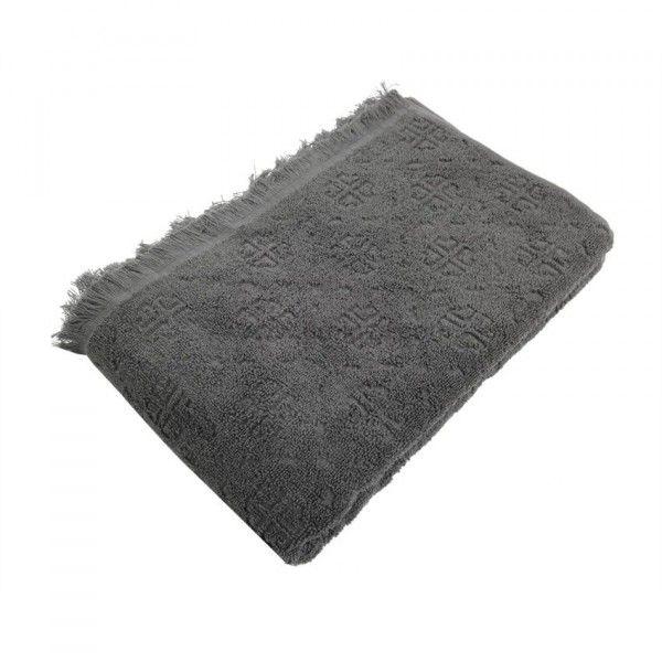 serviette de bain 70 x 130 cm cisele anthracite serviette de bain eminza. Black Bedroom Furniture Sets. Home Design Ideas
