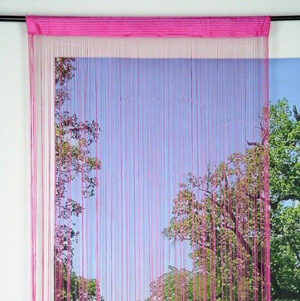 rideau de fil 90 x h200 cm mah fuchsia rideau voilage store eminza. Black Bedroom Furniture Sets. Home Design Ideas