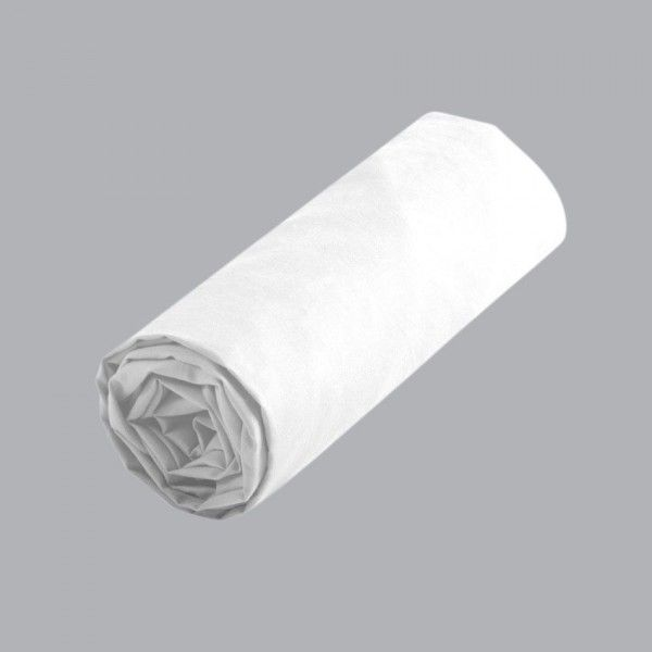 drap housse 180 cm Drap housse coton supérieur (180 cm) Confort Blanc   Drap housse  drap housse 180 cm