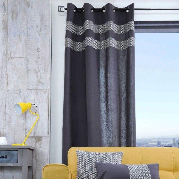 Rideau (135 x H260 cm) Torso Anthracite