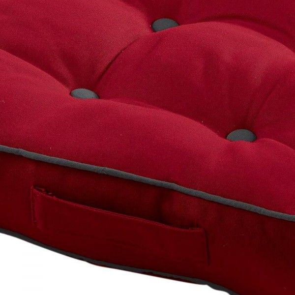 coussin de sol id ale rouge coussin de sol et pouf eminza. Black Bedroom Furniture Sets. Home Design Ideas