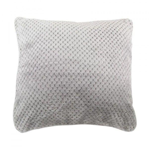 housse de coussin didou taupe d co textile eminza. Black Bedroom Furniture Sets. Home Design Ideas