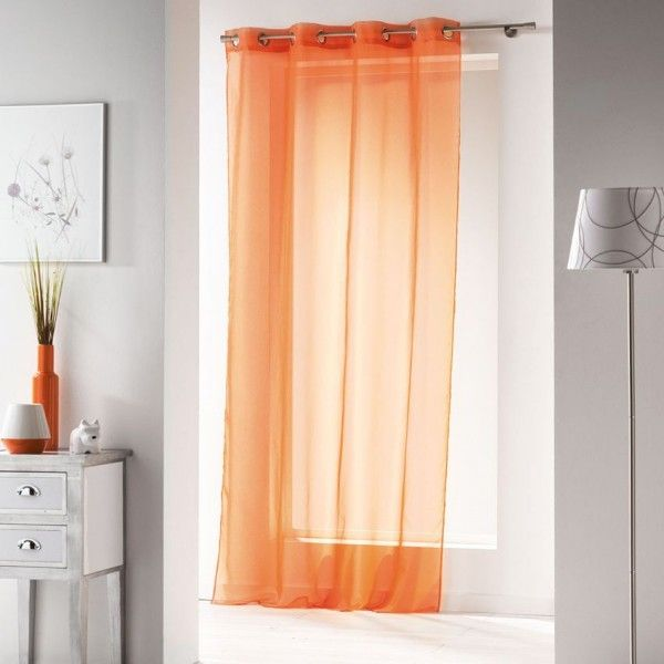 voilage orange rideau et voilage eminza. Black Bedroom Furniture Sets. Home Design Ideas