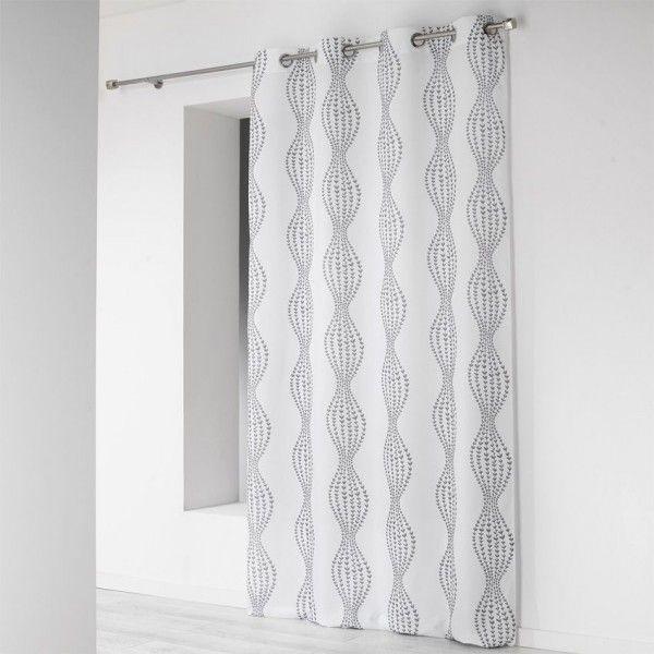 Rideau (140 x H260 cm) Lierra Blanc