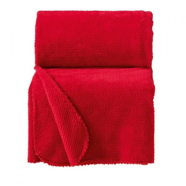 Plaid jacquard Calinou Rouge