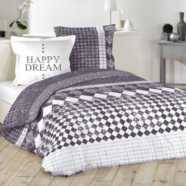 linge de lit violet eminza. Black Bedroom Furniture Sets. Home Design Ideas