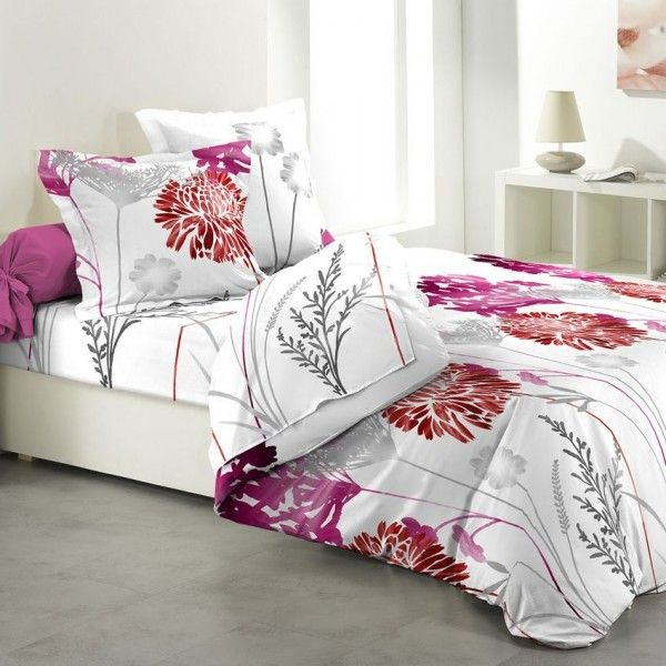 parure de draps rose linge de lit eminza. Black Bedroom Furniture Sets. Home Design Ideas
