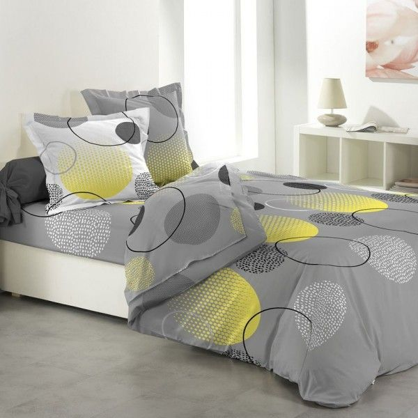 parure de draps 4 pi ces hoopy linge de lit eminza. Black Bedroom Furniture Sets. Home Design Ideas