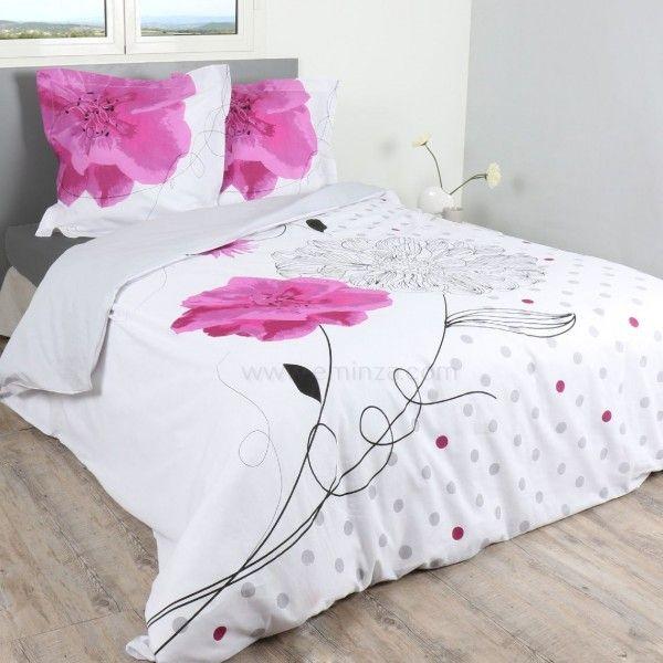 Housse de couette 240 x 220 cm linge de lit eminza - Housse de coutte ...