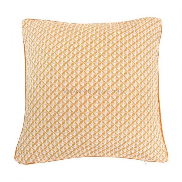 housse de coussin villa jaune d co textile eminza. Black Bedroom Furniture Sets. Home Design Ideas