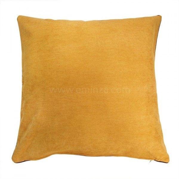housse de coussin alaska jaune d co textile eminza. Black Bedroom Furniture Sets. Home Design Ideas