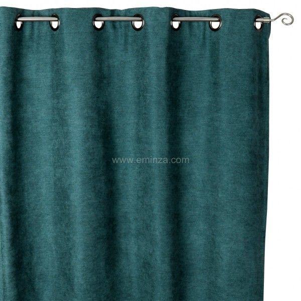 rideau occultant isolant 140 x h260 cm alaska vert rideau isolant eminza. Black Bedroom Furniture Sets. Home Design Ideas
