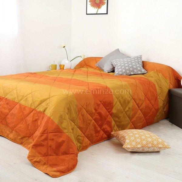 couvre lit 250 x 260 cm Couvre lit (250 x 260 cm) Bergame Orange   Couvre lit, boutis   Eminza couvre lit 250 x 260 cm