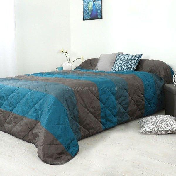 couvre lit 250 x 260 cm Couvre lit (250 x 260 cm) Bergame Bleu canard   Couvre lit, boutis  couvre lit 250 x 260 cm