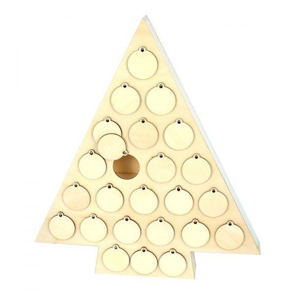 Sapin Calendrier De Lavent.Calendrier De L Avent A Decorer Sapin Pinea