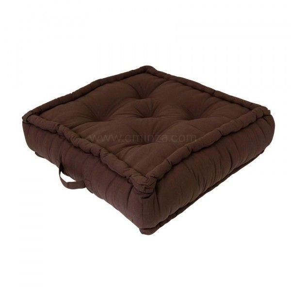 grand coussin de sol 60 cm etna chocolat d co textile. Black Bedroom Furniture Sets. Home Design Ideas