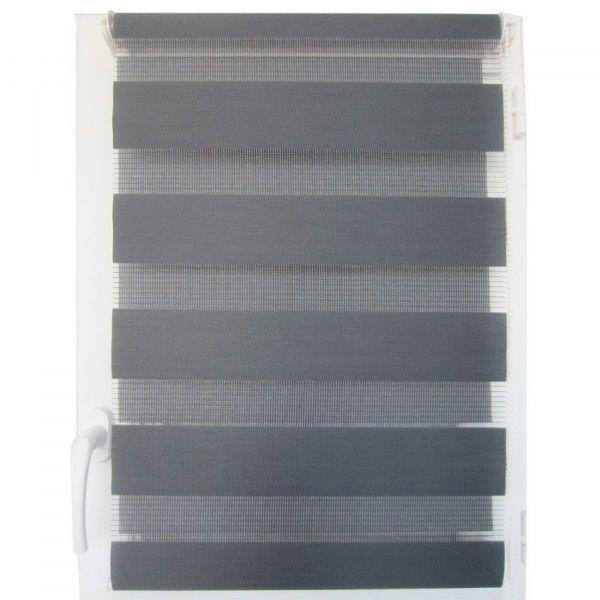 store enrouleur jour nuit 60 x 180 cm gris anthracite rideau voilage store eminza. Black Bedroom Furniture Sets. Home Design Ideas