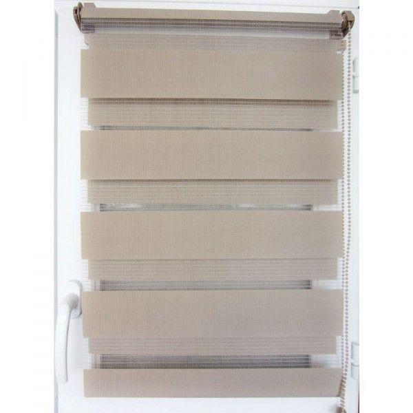 Store enrouleur Jour/Nuit (90 x 180 cm) Capuccino - Rideau / Voilage ...