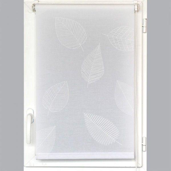 Store enrouleur tamisant Uni (150 x 180 cm) Blanc - Store enrouleur ...