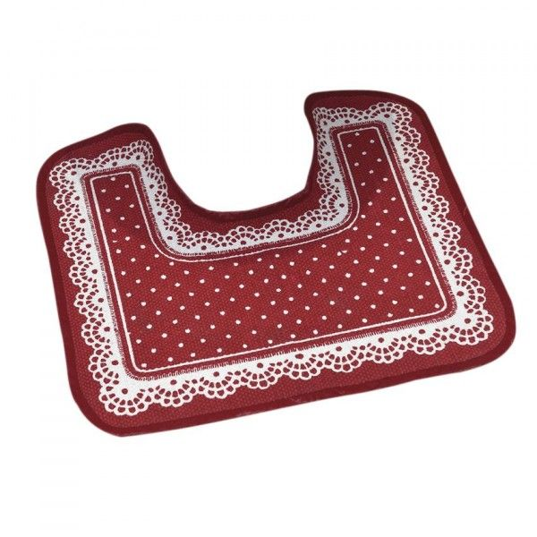 Tapis contour WC Tendresse Rouge