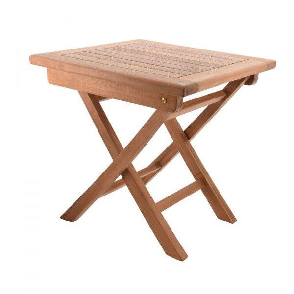 Tavolino pieghevole teak mobili d 39 appoggio eminza - Mobili da giardino in teak ...