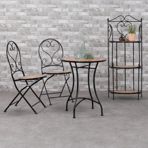 table de jardin mosa que valentine brun salon de. Black Bedroom Furniture Sets. Home Design Ideas