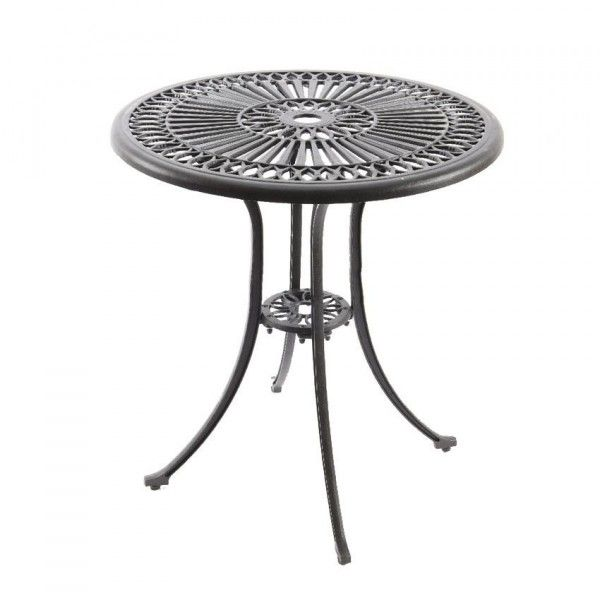 Table de jardin Saint-Tropez Aluminium (D66 cm) - Anthracite mat ...
